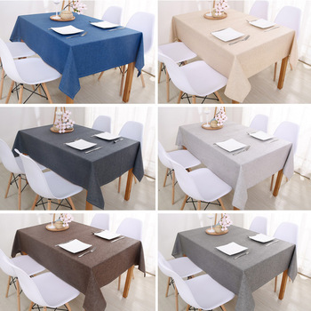 Decorative Table Cloth Rectangular Tablecloths Dining Cover Solid Color Cotton Linen Tablecloth Byetee - discount item  35% OFF Home Textile