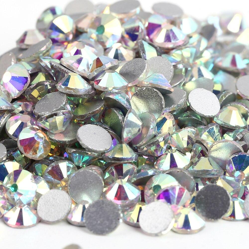 50% OFF~10Bags/Lot SS20 CRYSTAL Clear AB Non Hotfix Rhinestones,2028 Flatback Crystal Rhinestones