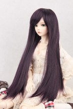 BJD SD Doll Wigs Photon minifee Chloe Male Female Dolls black Long wig 3 1 1