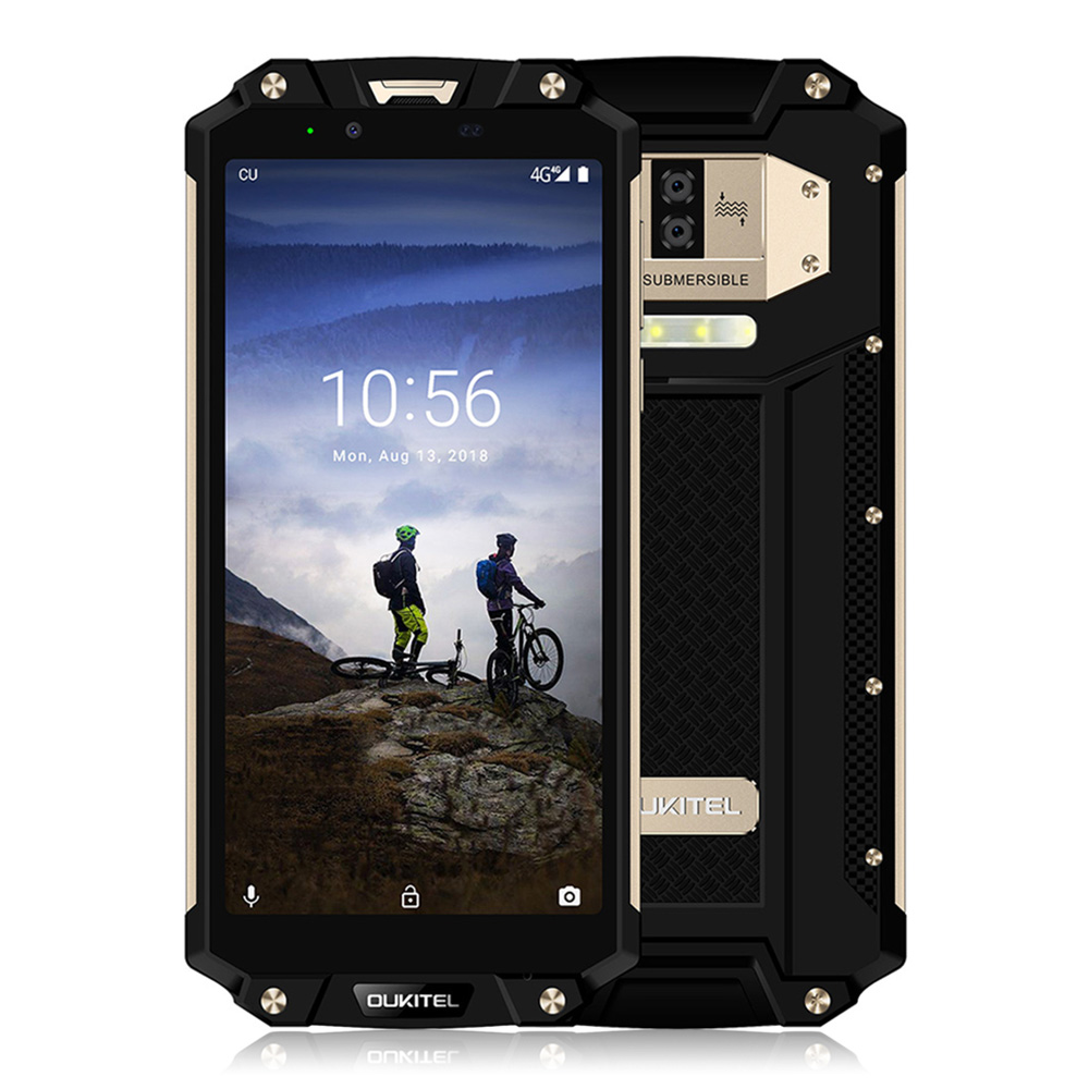 OUKITEL WP2 4g Android 8.0 Smartphone 6.0 pollice Phablet MT6750T 4 gb di RAM 64 gb ROM NFC Impermeabile Antiurto 10000 mah Del Telefono Mobile