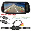 7 Inch LCD Color Car Rear View DVD VCR Monitor 7 IR LED Lights Night Vision Rearview Reversing Backup Camera