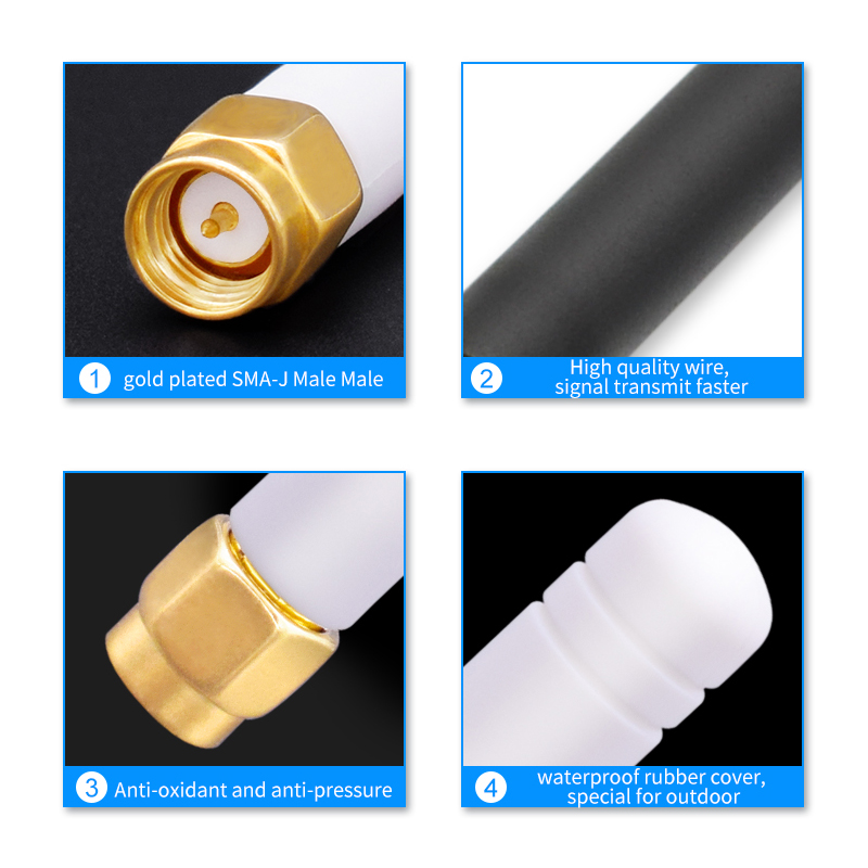 Image 3 - 433/470/ 2.4ghz WIFI Antenna SMA Male Connector 3dBi lte Antennas 2.4ghz Antena Amplifier Wireless Router External Wi fi Booster-in Communications Antennas from Cellphones & Telecommunications