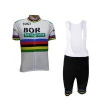 2018 Uci Peter Sagan World Champion Team Kits Cycling Jerseys Summer Mens Bicycle Maillot MTB Short