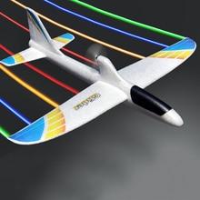 RC samoloty USB ładowania elektryczne ręcznie rzucanie szybowiec DIY Model samolotu ręcznie uruchomienie rzucanie szybowiec zabawki dla dzieci 2