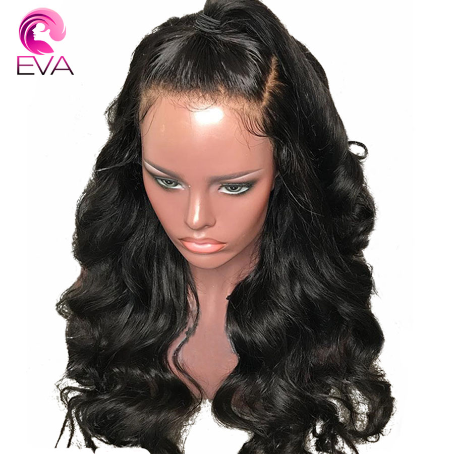 Eva Body Wave 13x6 Lace Front Human Hair Wigs Pre Plucked With Baby Hair For Black Women Bleached Knots Brazilian Remy Hair Wig