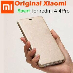 Image 2 - מקורי xiaomi redmi 4 פרו Flip מקרה כיסוי עור PU + מחשב xiaomi redmi 4 נייד מגן