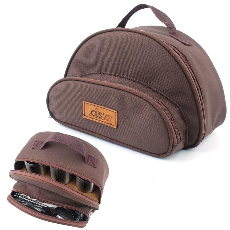 Outdoor Picnic Bag Bento Package Tableware Storage Portable Travel Makeup  Wash Basket Camp Camping Plegable Large Tote
