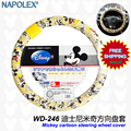 Mickey mouse cartoon car steering wheel cover car-covers covers steering-wheel women girls car styling decorations car-styling