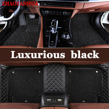 ZHAOYANHUA Custom car floor mats for Mazda 2 3 Axela 6 8 5D CX5 CX-4 CX7 case carpet heavy duty anti slip perfect rugs liners image