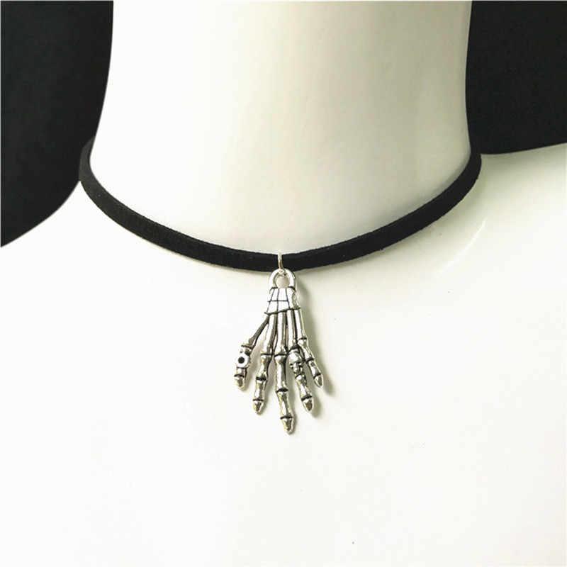 Nueva joyería de moda Simple lazo de terciopelo negro collar de cristal de aleación collar gargantilla colgante para mujer 2019 regalo de joyería