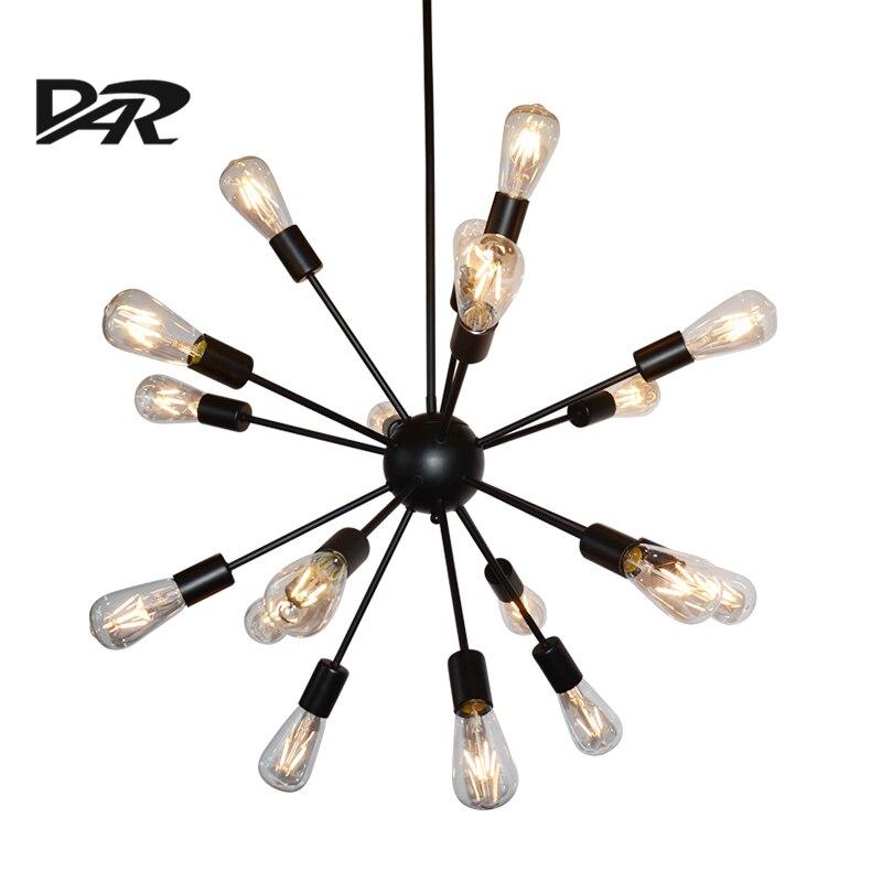 Industriële stijl spoetnik hanglampen creatieve zwart ijzer e27 led - Binnenverlichting