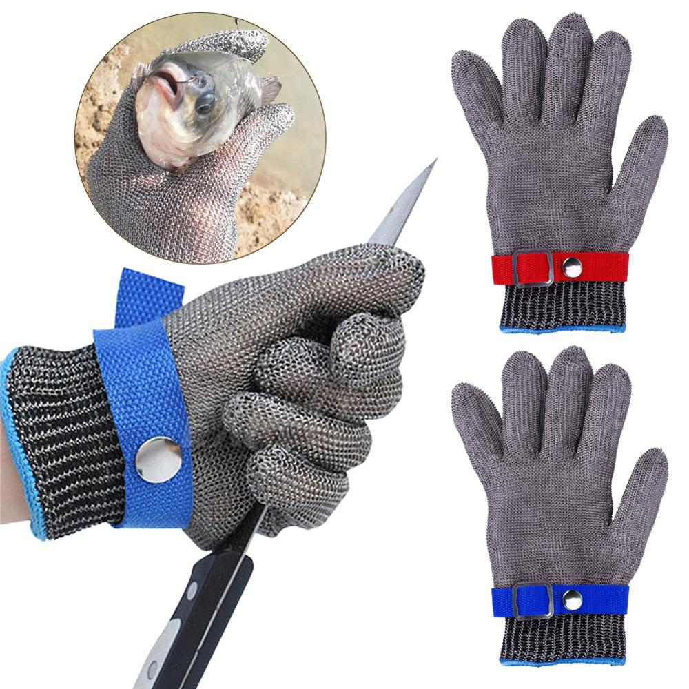 Safety Cut Proof Stab Resistant Stainless Steel Gloves Cut-resistant Anti-Scratch Metal Mesh Butcher 22-26cm Anti-knife Gloves