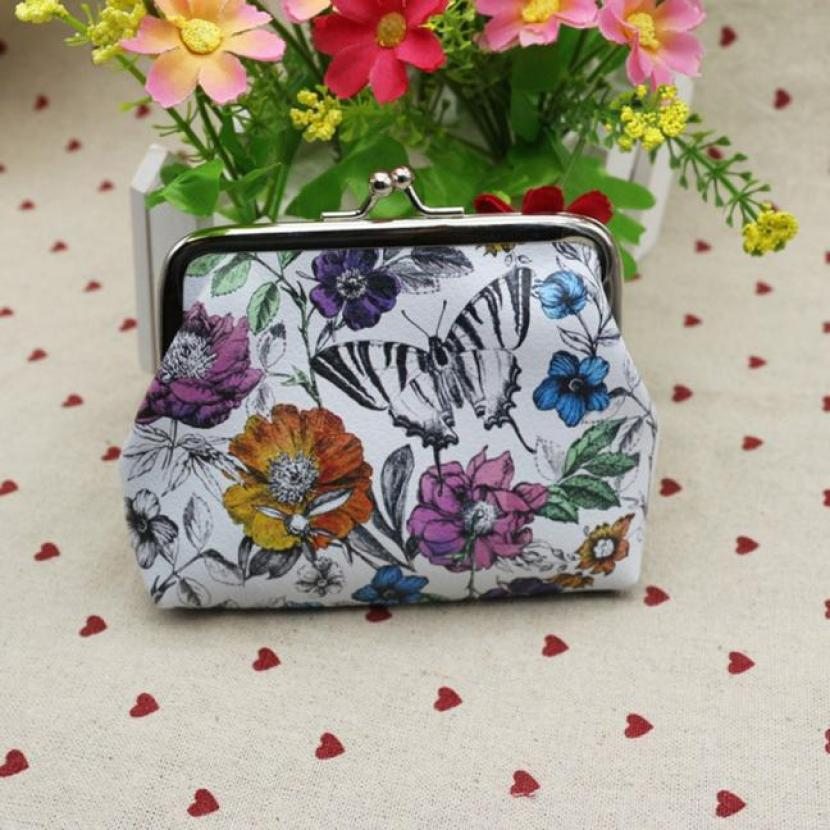 Women Wallet Butterfly and Flower Card Holder Coin Purse Clutch Handbag Purse For Girls Bolsa Menina Kids characteristic floral and butterfly shape lace decorated body jewelry for women