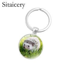 2019 Hedgehog In The Fog Keychain Men Women Pendant Statement Handmade Fashion Animal Ring Holder Jewelry 19 Colors
