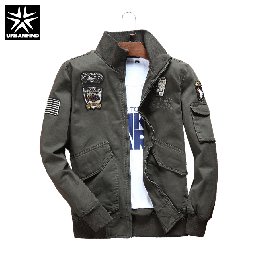 Urbanfind Military Style Men Fashion Pilot Jacket Plus Size M 4xl Brand Man Clothing Autumn