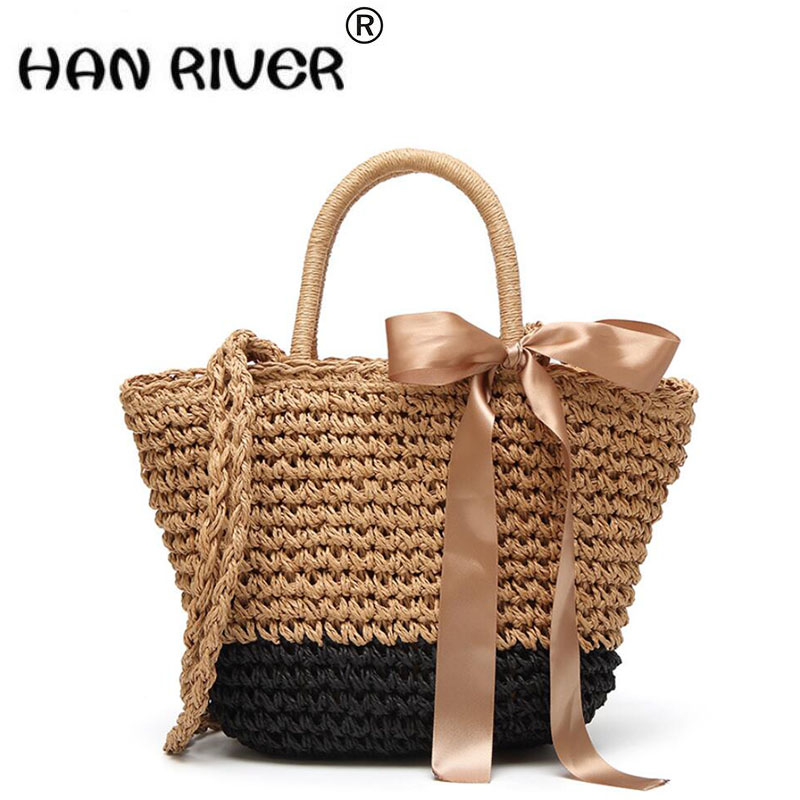 Весна/Лето 2018 новый торговый столкновения цвет сумка Лидер продаж Модные трава тканые повседневные сумки женские Вязание сумка