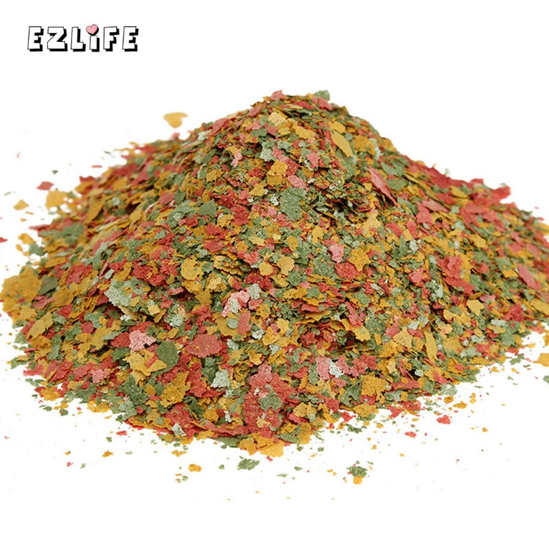 Akvarium Fish Food Tetra Flakes For Tropical Fish Marine Ornamental Fish Små Gullfisk Koi Feeding Food EZLIFE 100g / Pakke PT0304