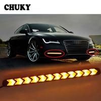 CHUKY 1Set Car LED DRL fog lamps Turn Signal with Yellow Steering For Nissan Qashqai J11 Juke Tiida Toyota RAV4 Citroen C4 C3 C5