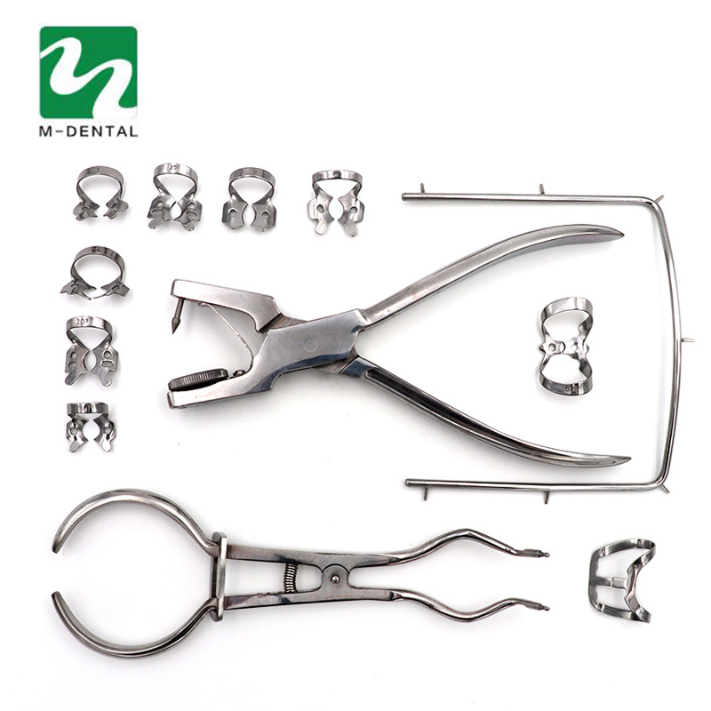 1 Unidades dientes Cuidado dental Dam perforador caucho dental puncher para laboratorio dental