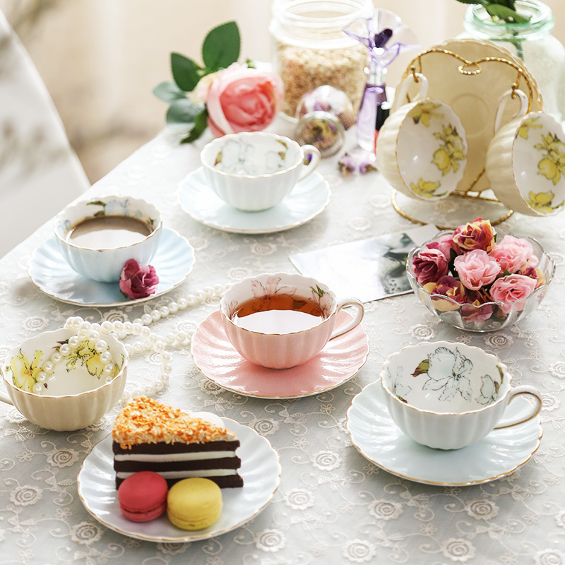 Coffee cup set Creative elegant Scented tea pumpkin cups bone china tea sets Teatime Afternoon Tea party espresso tazas Drinking