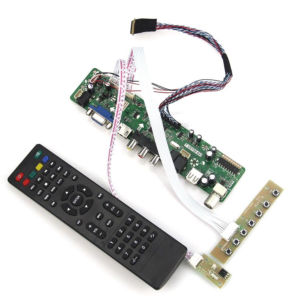 (TV+HDMI+VGA+CVBS+USB) For LP173WD1 LTN173KT01 T.VST59.03 LCD/LED Controller Driver Board LVDS Reuse Laptop 1600x900