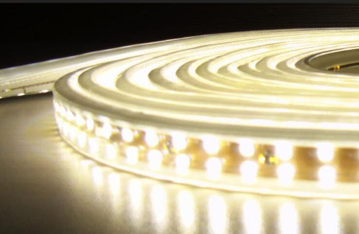 New Design Ultra Super Bright Tape IP65 180led/m Double Row LED Strip Light 2835 SMD 220V Hotel Building with power plug