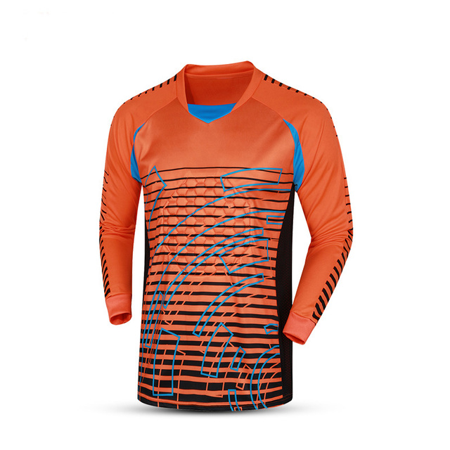 2016 Fútbol uniformes portero traje esponja protector integral Jersey portero  porteros camisa Pantalones entrenamiento Sets c1e3fe28c4a4a