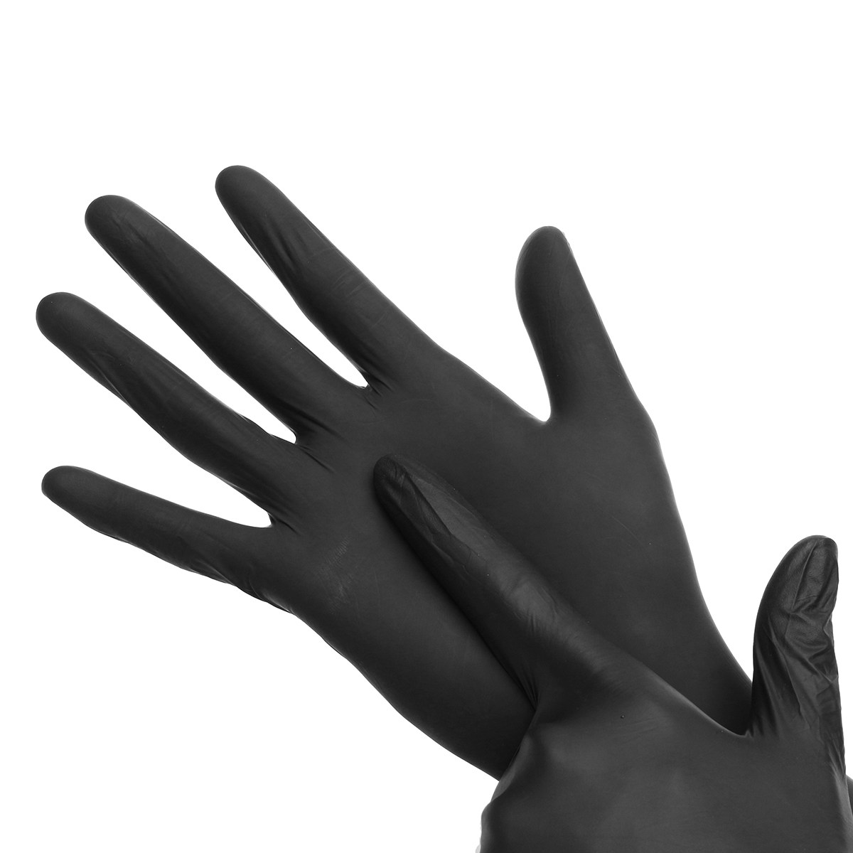 Hot Sale 100pcs Disposable Soft Black Tattoo Gloves Dental Medical Nitrile Latex Sterile Gloves Permanent Makeup Body Art Size M L Xl Tattoo Accesories