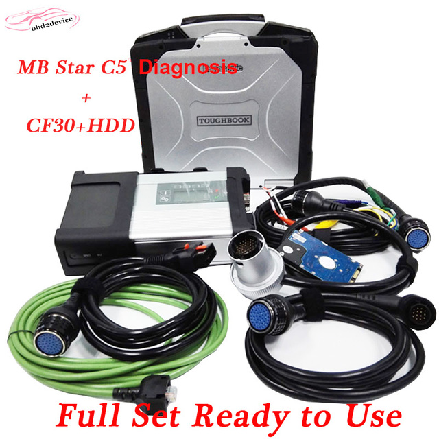 obd2 MB Star C5 with 12/2017 Software HDD Military Laptop CF30 Xentry/Vediamo mb c5 Diagnostic for truck Ready To Use Free Ship