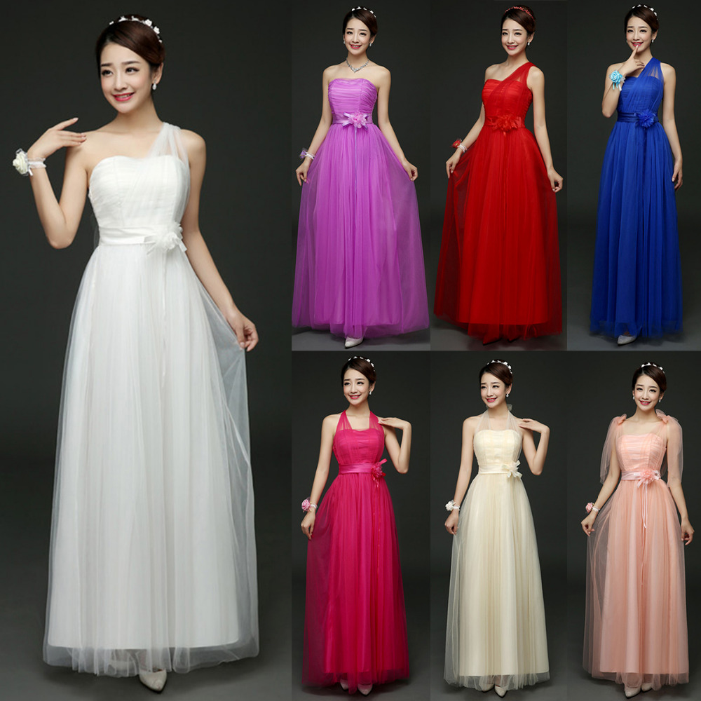 Elegant women bridesmaid formal dresses wedding bridesmaid formal elegant women bridesmaid formal dresses wedding bridesmaid formal dress convertible multi way wrap party maxi dress long dresses in dresses from womens ombrellifo Choice Image