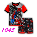 2016 Summer Boy's clothing Sets fashion cartoon Spiderman Children pajamas suit sleepwear 100%cotton baby set t-shirts+shorts