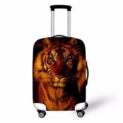 Coloranimal животных тигра с принтом Совы Чемодан Защитная крышка тележка чемодан пыль случае Чехлы для мангала с Zapper Применить для 18-30 дюймов