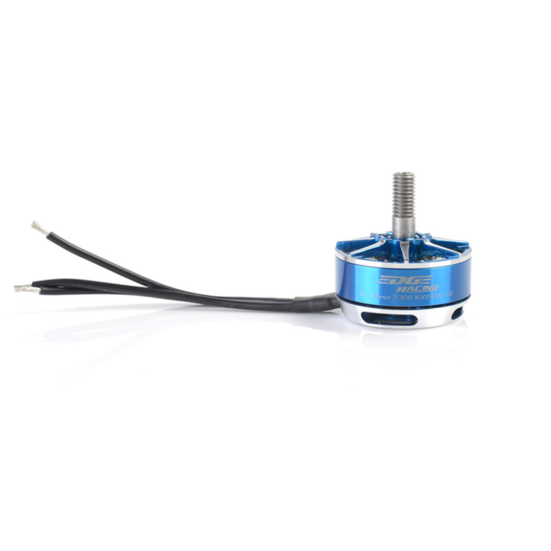 Diatone Edge Silver Custom 2306 2450KV Brushless Motor For 200 X220 250 RC Multirotor Quadcopter Frame Propeller Part Blue 4set lot universal rc quadcopter part kit 1045 propeller 1pair hp 30a brushless esc a2212 1000kv outrunner brushless motor
