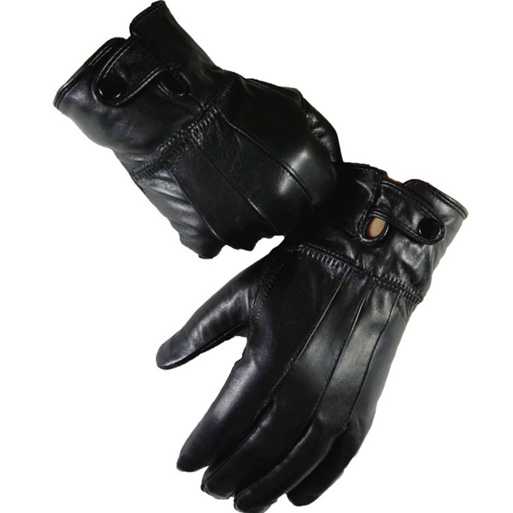Mens fleece gloves xxl - Fleece Leather Gloves