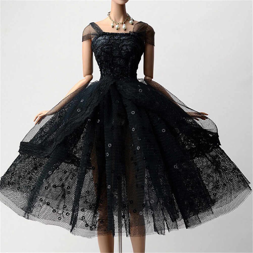 c08b2a9dff8a6b6 Аксессуары для кукол платья для кукол Элегантная Леди черное маленькое  платье вечернее платье Одежда для кукол