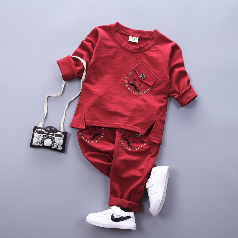 2017 Spring / Autumn new baby clothing set 100% cotton long-sleeved t-shirt + pants 2 pcs 0-3 year Baby boy girs clothing sets new hot sale 2016 korean style boy autumn and spring baby boy short sleeve t shirt children fashion tees t shirt ages