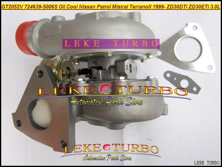 Oil Cooled Turbo GT2052V 724639-5006S 705954-0015 724639 705954 Turbocharger For NISSAN Patrol MISTRAL Terrano ZD30 ZD30ETi 3.0L цена и фото