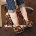 Zapatos mujer Высоких каблуках платформы 14 см тонкие каблуки весна тонкие каблуки леопардовым принтом женская обувь с низким лучшие насосы бесплатная доставка