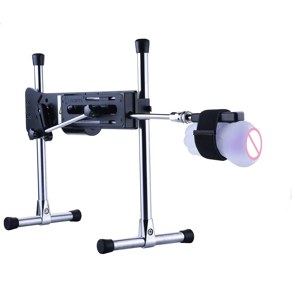 Hismith Black Dildo Bondage Adapter For Sex Machine With Quick Air Connector Female Dildo Vibrator Masturbator Cup Clip Sex Toys in Vibrators from Beauty Health