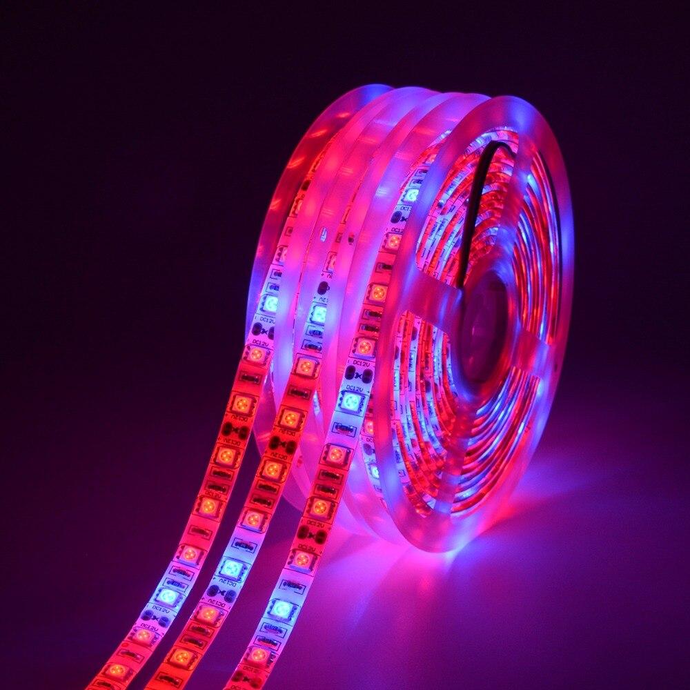 GEFÜHRT wachsen Volles Spektrum 5 Mt Led-streifen licht 5050 LED Blume Pflanze Phyto Wachstum lampen Für Gewächshaus Wasserkulturanlage wachsende