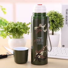 350ML/500ML Japanese Army Green Camouflage thermos flask Outdoor Sports water bottle