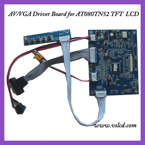 VGA+AV input signal TFT Driver board of 8inch AT80TN52  tft dispay panels VGA driver board l175d l174d driver board 491641300100r ilif 092 signal board used disassemble