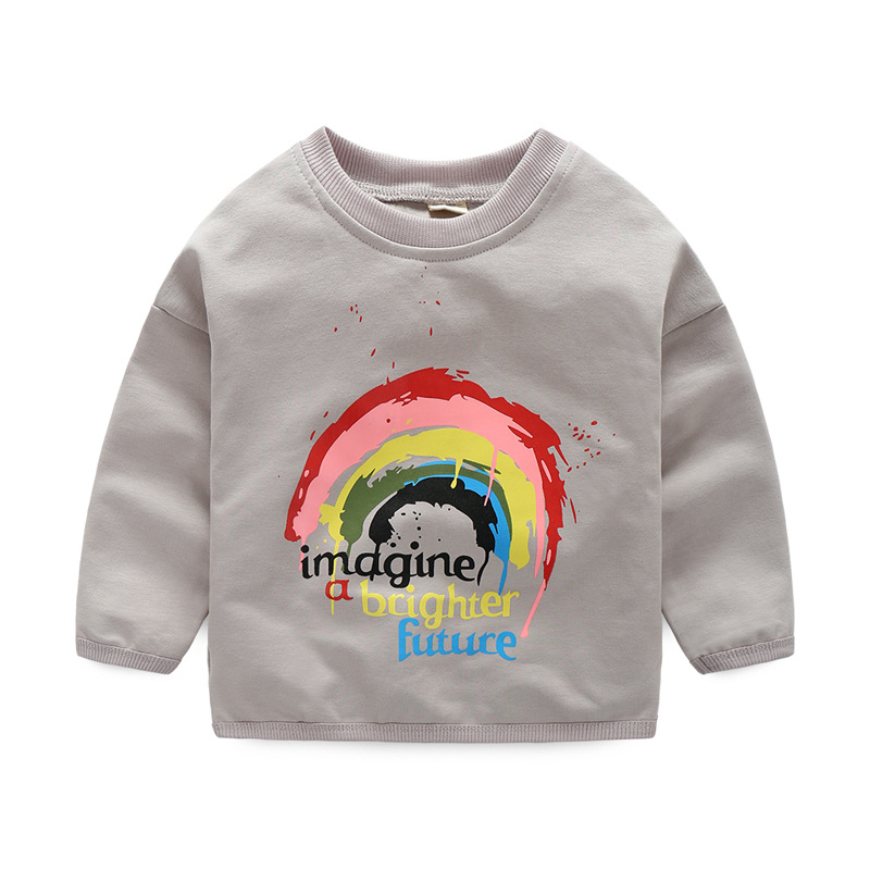 f85752ed6a ... new Rainbow printed Cute Girls T Shirts long Sleeves for Kids Clothes  Baby boys hoodies Toddlers Tops Tees sweatshirt - Best Kids Clothing Stores  Online