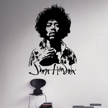 Jimi Hendrix Wall Decal Rock Guitarist Vinyl Sticker Rock and Roll Home Decor Ideas Living Room Interior Removable Wall Art