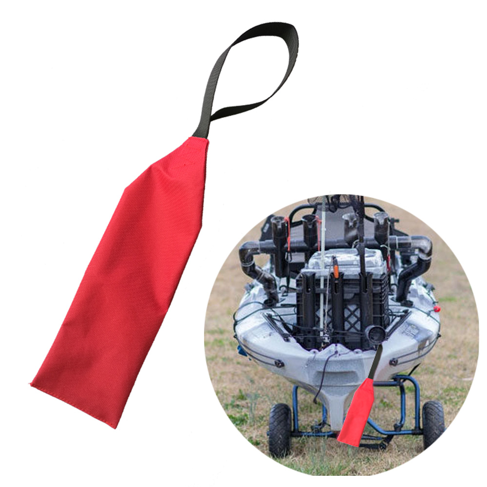 Long Load Safety Tow Flag For Kayaks Canoes SUP With Webbing Neck