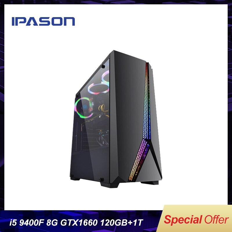 Intel Desktop PC Gaming i5 P24 9400F 6-core/Cartão Dedicado GTX1660 6G/ASUS B365M/ 1T + 120G SSD/8G DDR4 RAM PUBG jogos para PC Desktop