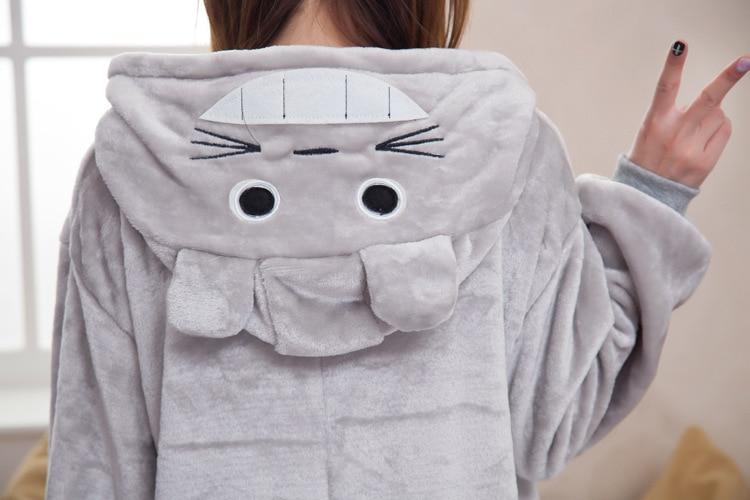 """""""Kigurumi"""" žiemos anime pižama Suaugusiųjų Onesie Totoro - Karnavaliniai kostiumai - Nuotrauka 5"""