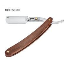 100% Pear wood handle Epilator Men Straight Razors   Shaving Razor Professional Folding Shaving Knife Hair Removal dorco razor
