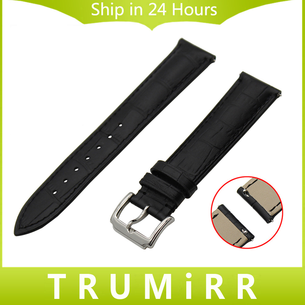 Quick Release Genuine Leather Watch Band for Maurice Lacroix Pontos Masterpiece Wrist Strap Croco Grain Bracelet 18mm 20mm 22mm