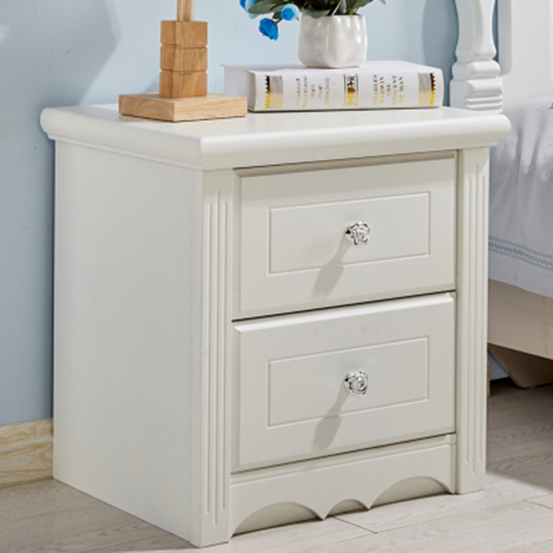 Furniture Glass surface Paint white Storage Bedside table